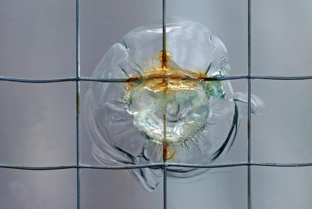 Bulletproof glass is typically made from polycarbonate.