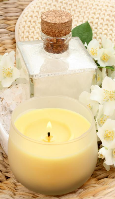 Aromatherapy lotions and scented candles can be used to enhance a person.