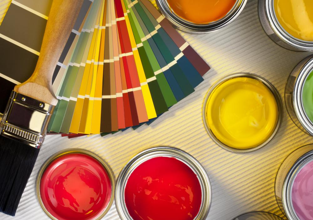 While most issues arise when paint is poured from a large can, even small cans may cause problems.
