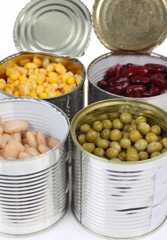 Canned goods are typically stored in a pantry.