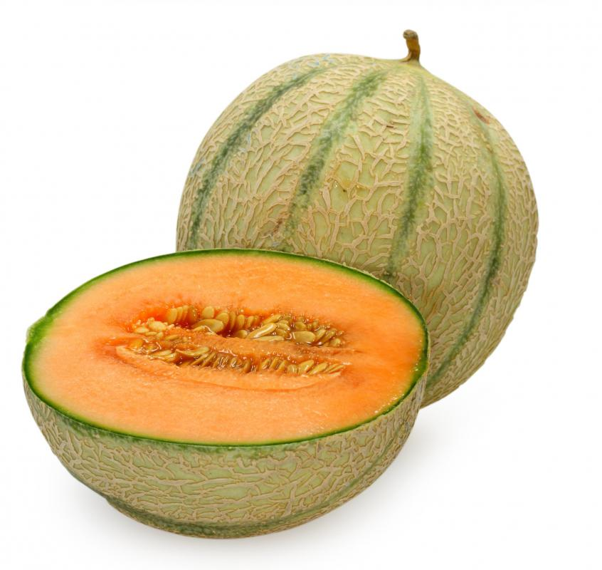 Cantaloupes contain beta carotene.