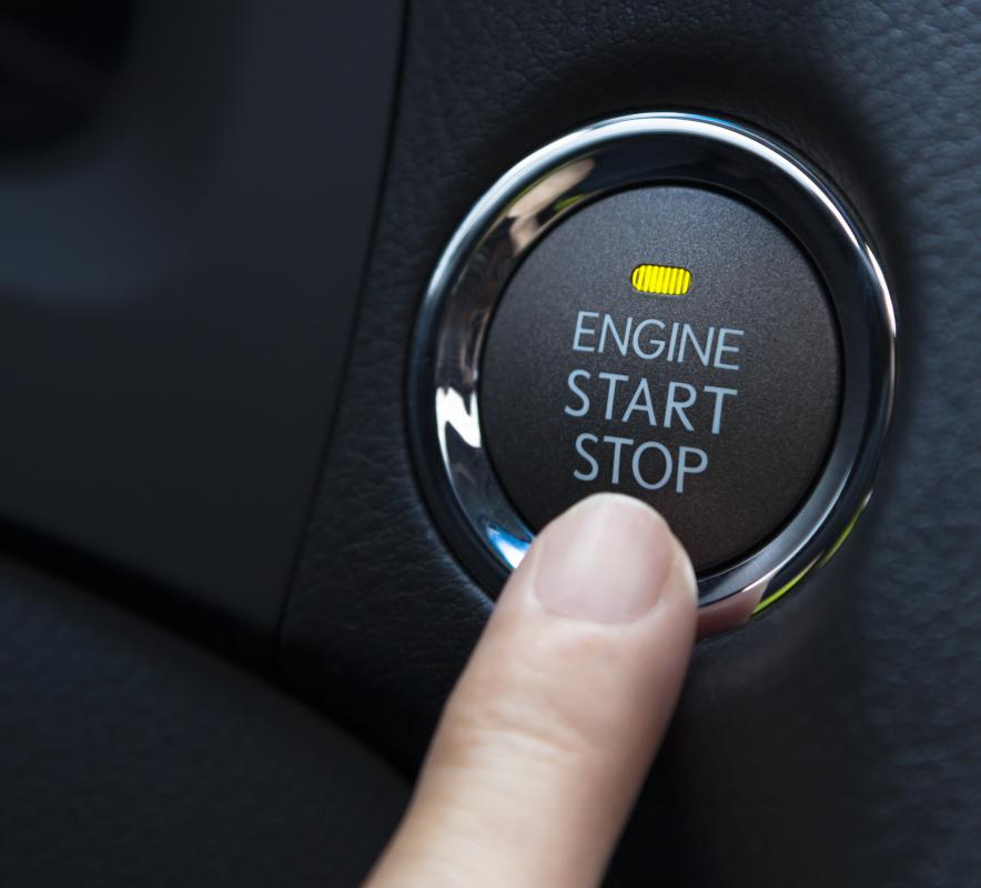 The ignition switch can also be activated via a push button system.