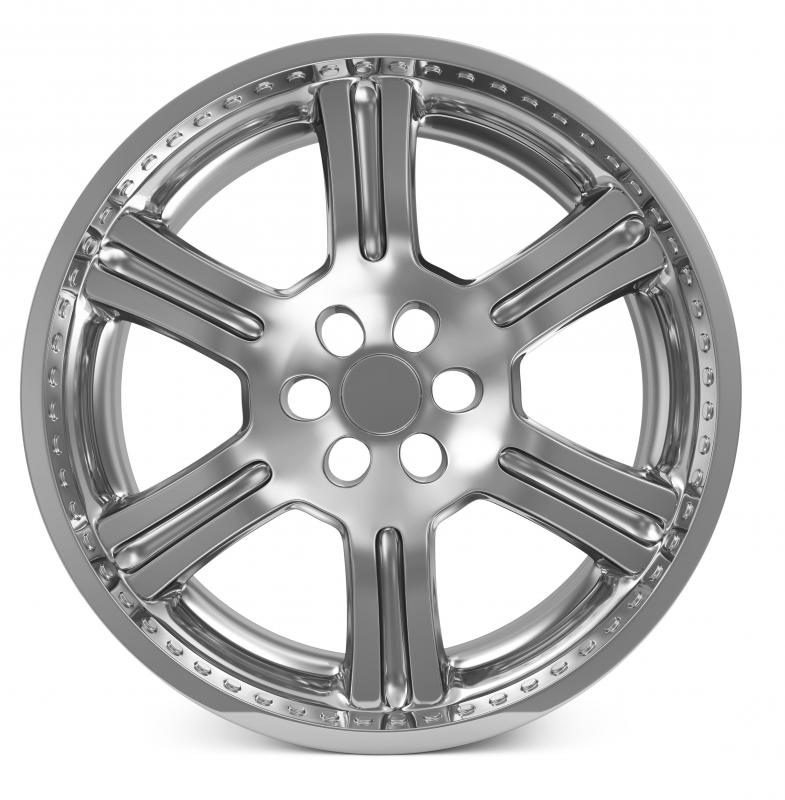 Many car parts, including wheel rims, are electroplated.