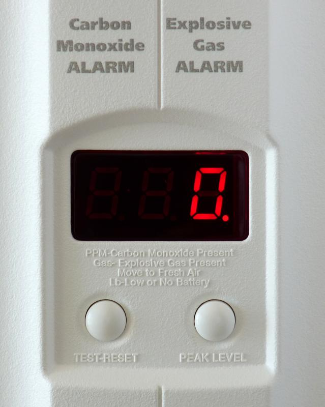 Carbon monoxide detectors can be installed in the home to monitor exposure levels.