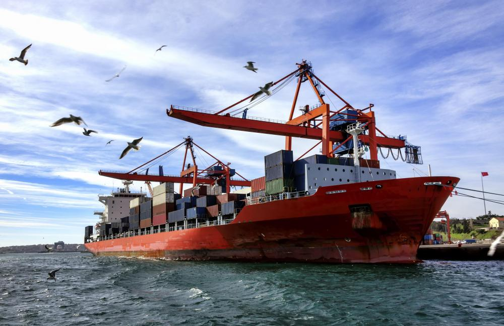 Container ships are often targeted by pirates, even when they are in port.