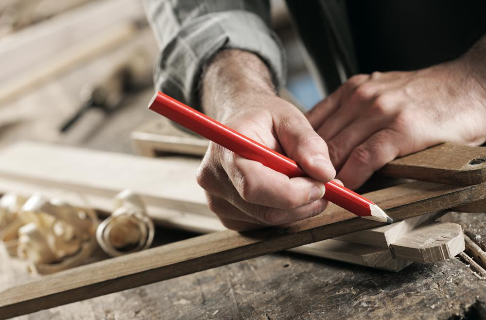 Carpentry workshops are usually large enough to accommodate long pieces of timber.