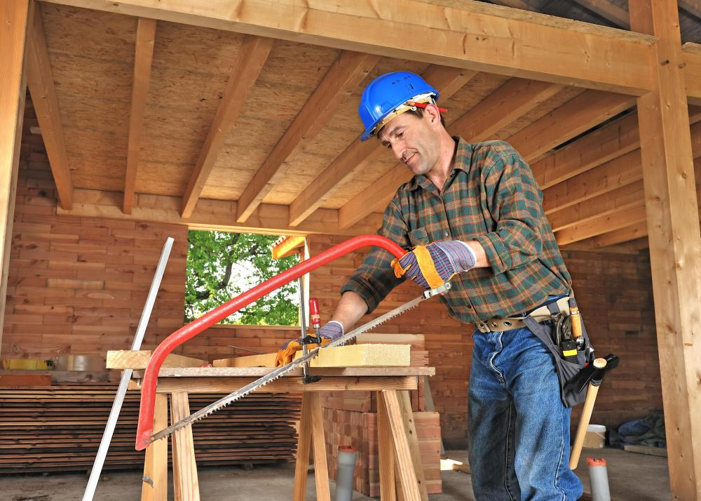 Carpenters work with a variety of materials to build and repair objects and structures.