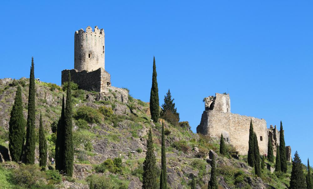 The ruins of Medieval castles are popular destinations for heritage tourists.