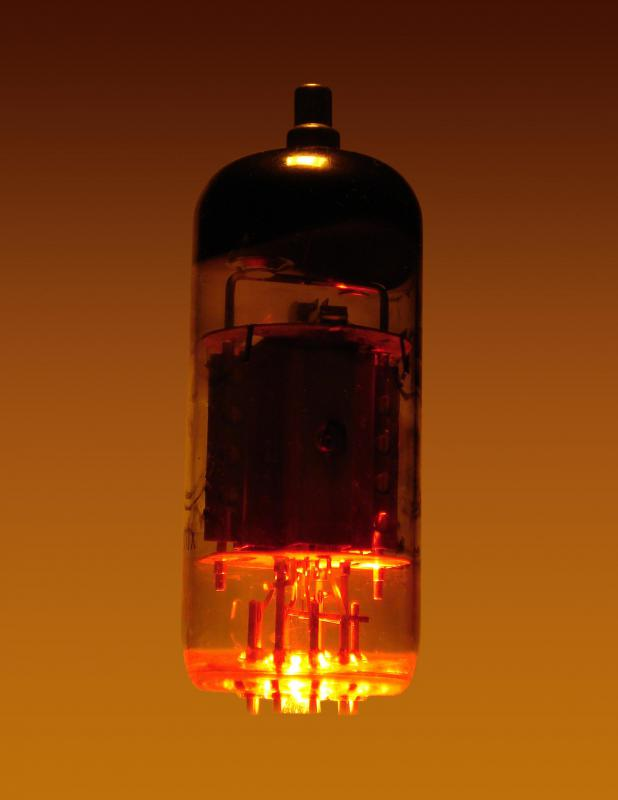 Traditional tube television sets use negative, hot cathodes to produce a picture.