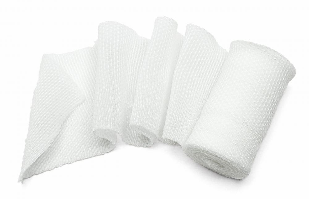 Cotton gauze fabric is commonly used in the medical field to dress open wounds.