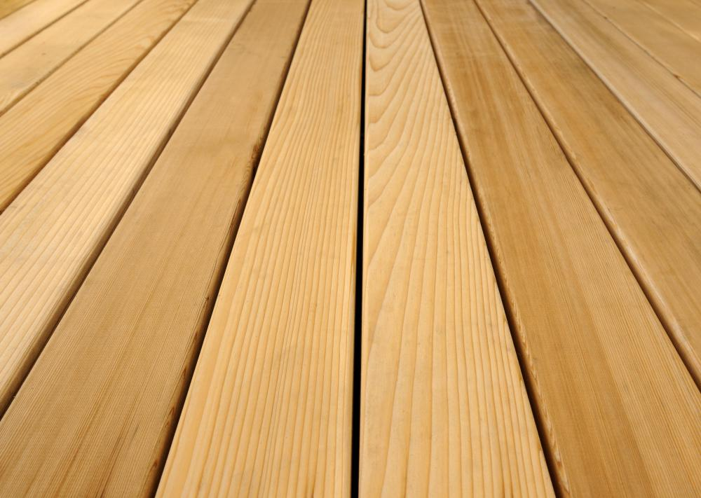 Cedar decking is attractive and resistant to water damage and insect infestations.