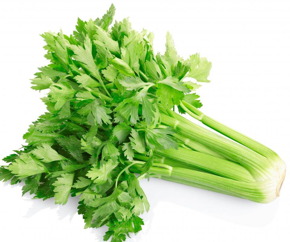 Celery is high in vitamins A,B, and C and low in calories.