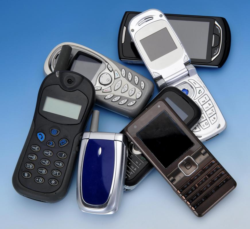Advances in technology have led to a variety of different types of mobile phone.