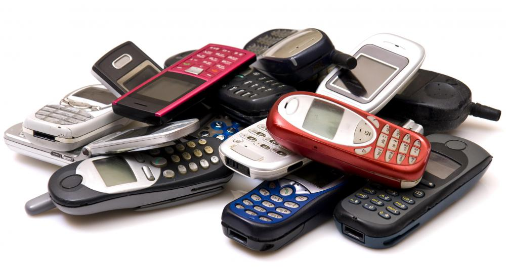 A variety of cellphones.