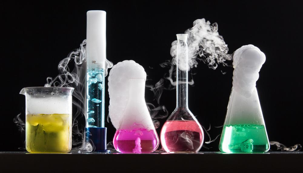 Aqueous solutions may be used in chemical reactions.