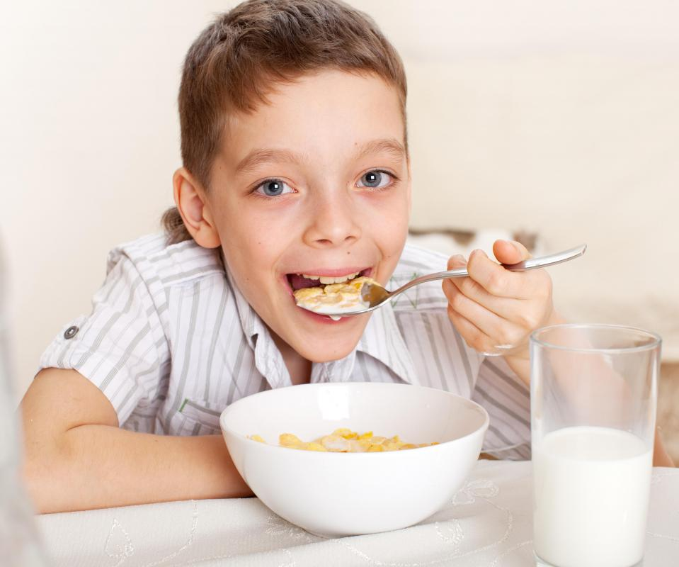 Children who are trying to avoid going to school may lollygag by eating their breakfast very slowly.