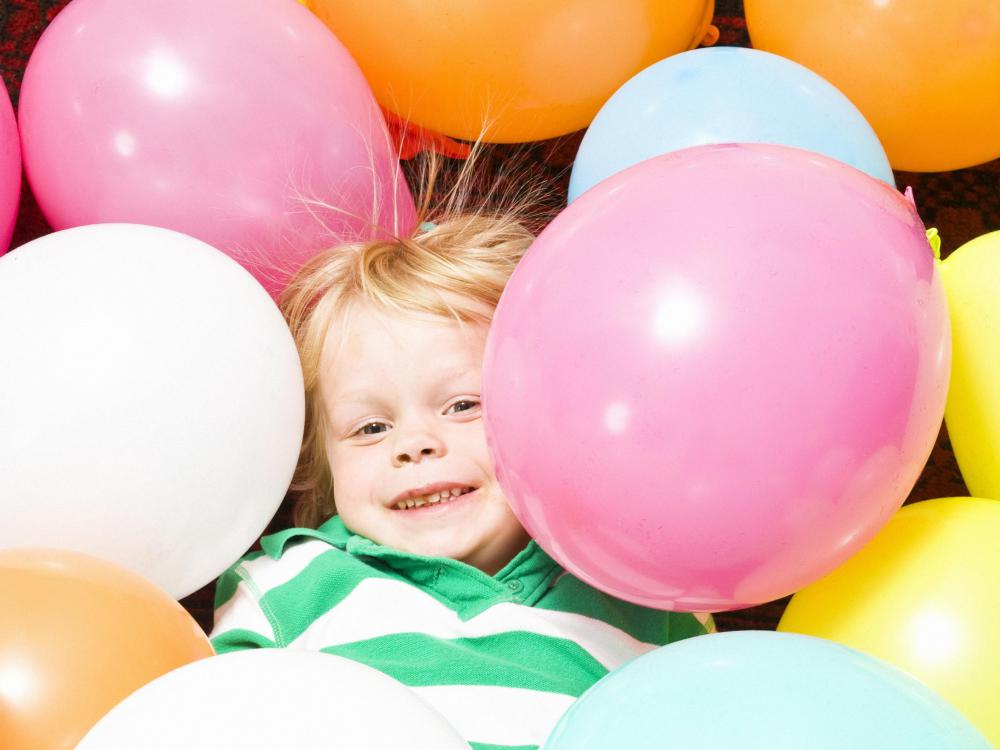 Helium is used in party balloons.