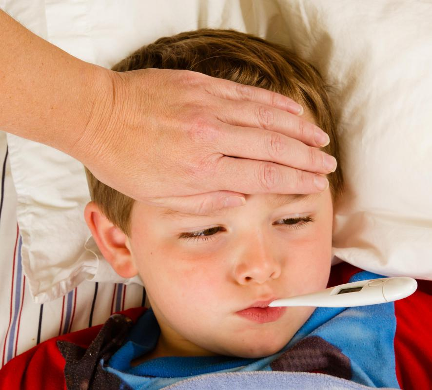 Fever is a common symptom of respiratory diseases caused by human coronavirus.