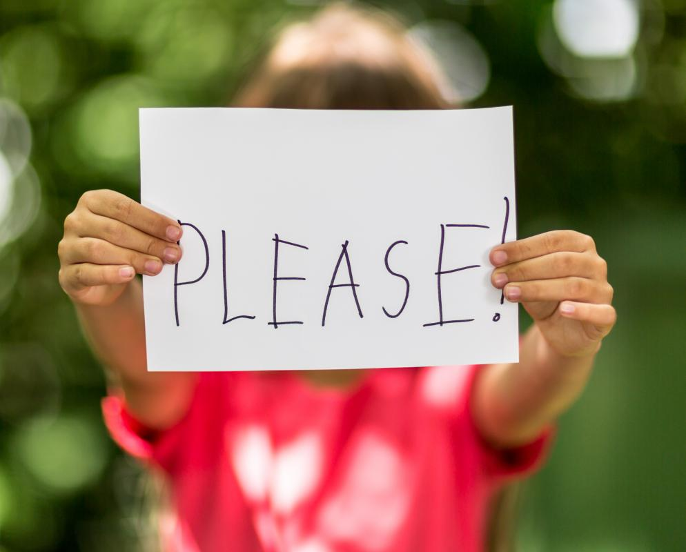 "Teaching children to say ""please"" and ""thank you"" instills good manners in them."