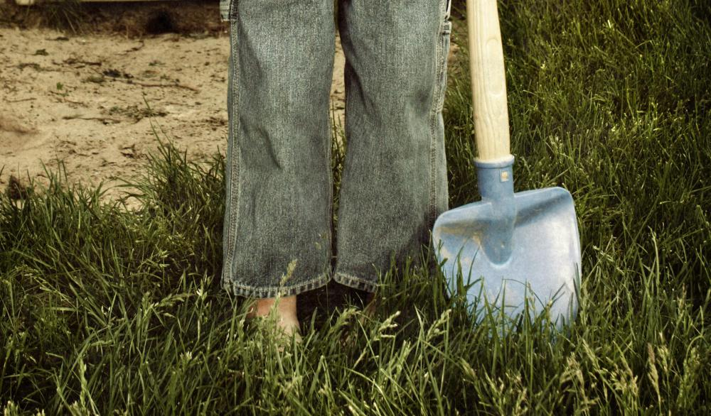 Garden shovels help dig holes and move small amounts of dirt for planting.