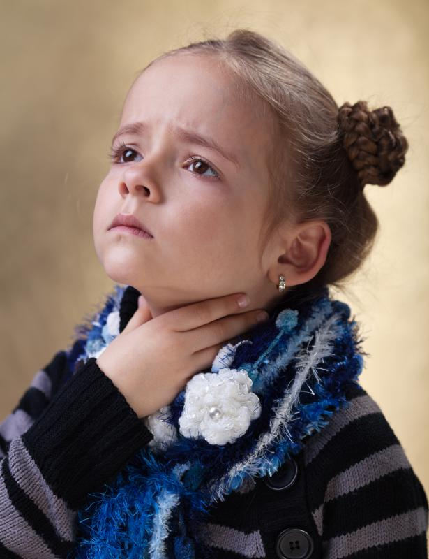 Strep throat is common in children.