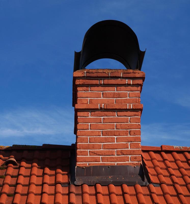 Cladding is commonly installed around chimneys.