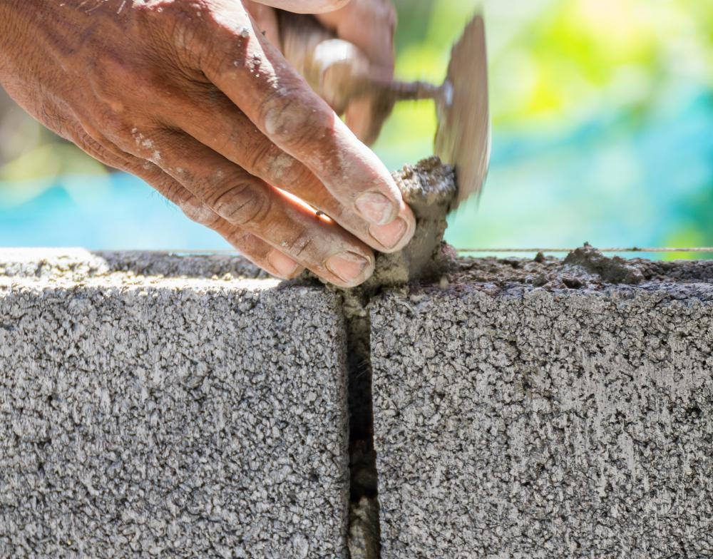 Mortar is the most commonly used cement adhesive.
