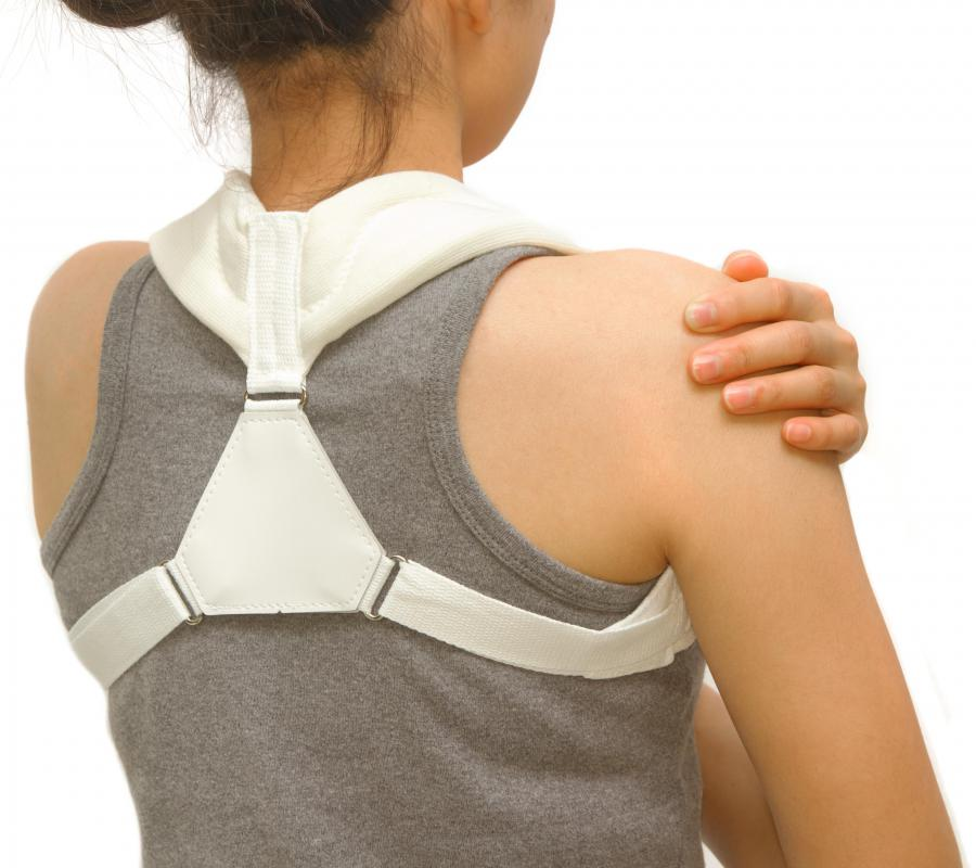 An injury to a gliding joint like the clavicle may require wearing a brace.