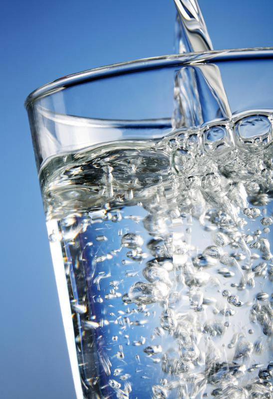Drinking plenty of water helps to keep skin healthy.