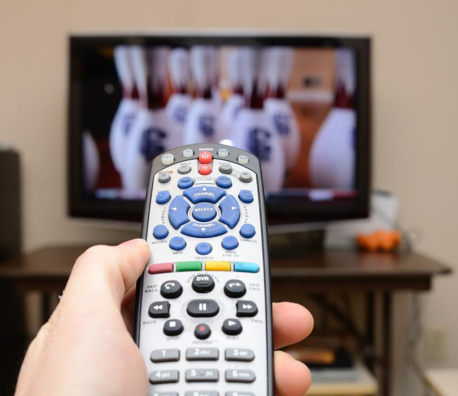 Televisions are equipped with an infrared receiver to communicate with an IR remote control.