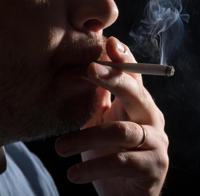 Inhaling second hand smoke can trigger COPD in non-smokers.