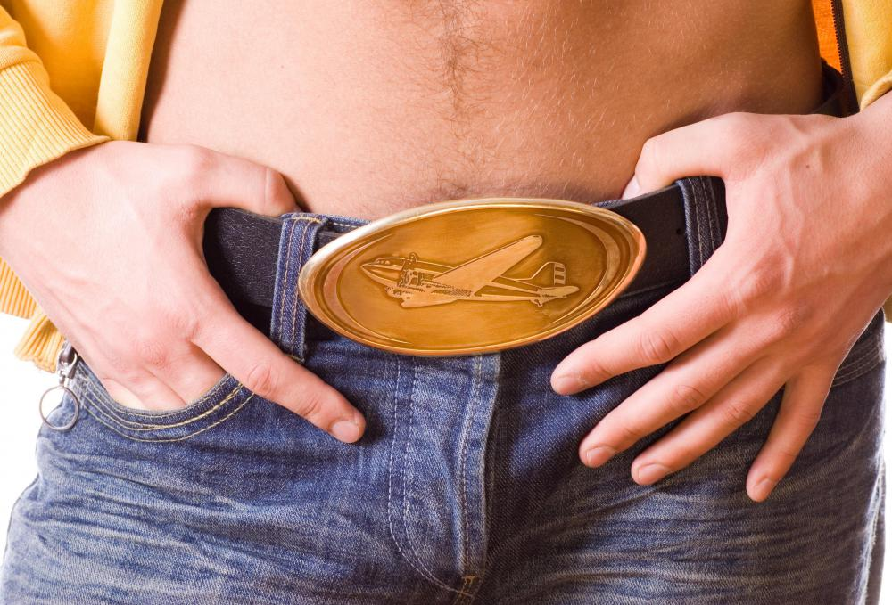 Western style belt buckles are worn for self expression, as well as preventing the wearer's pants from falling down.