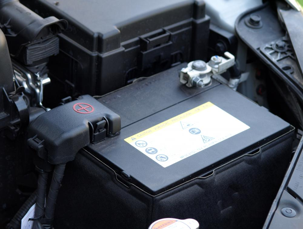 When the ignition switch is turned in a car,  battery voltage is provided to a starter solenoid.
