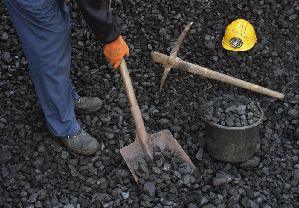Coal shovels are square-shaped.