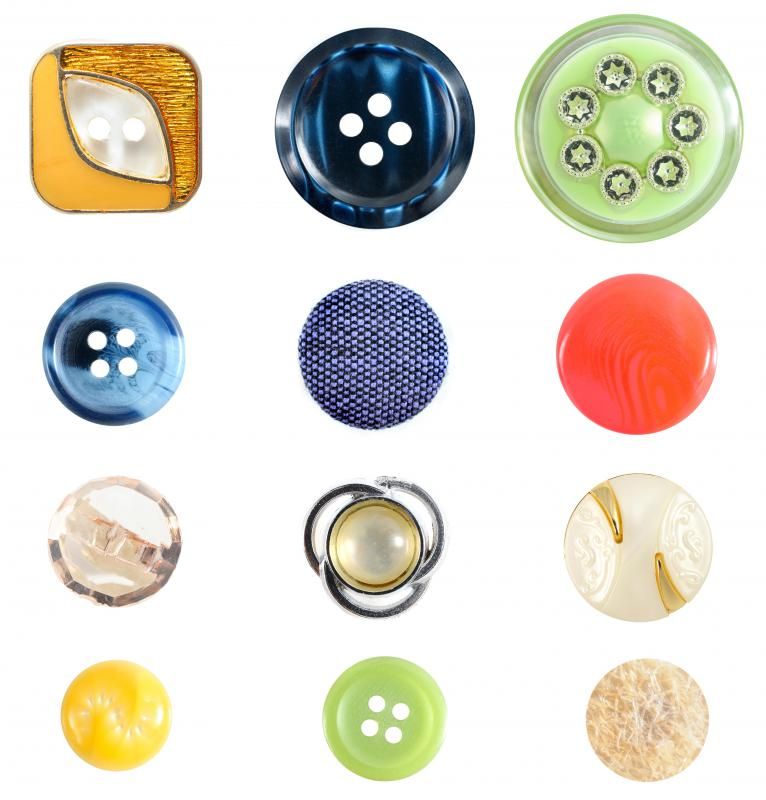 Covered buttons are fabric-covered buttons that are the same color and fabric as an article of clothing.