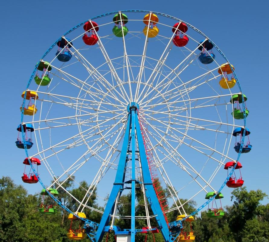 Uniform circular motion can be seen in a Ferris wheel.