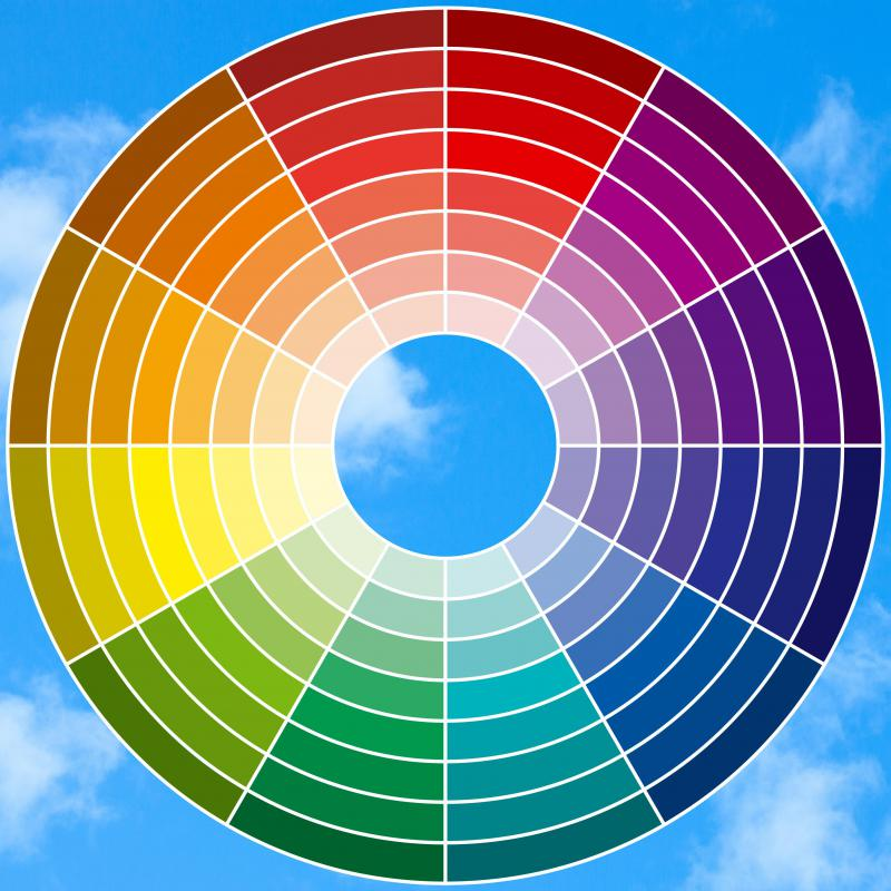 Monochromatic color schemes use colors that are aligned in the color wheel.