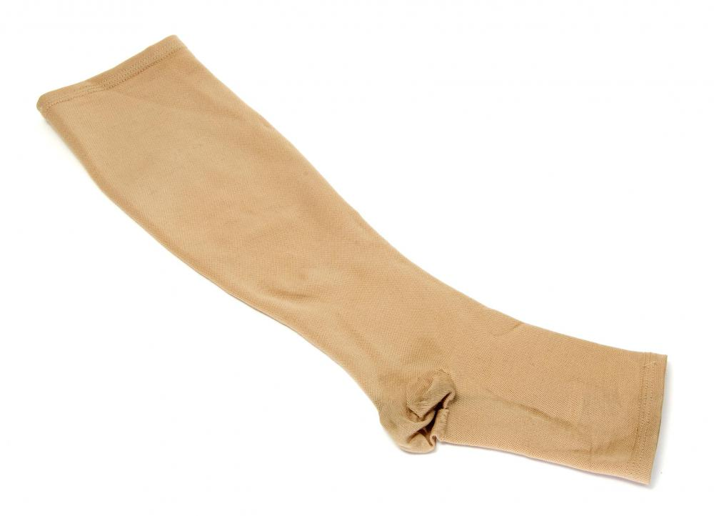 Compression stockings may help relieve symptoms and slow progression of varicose veins.