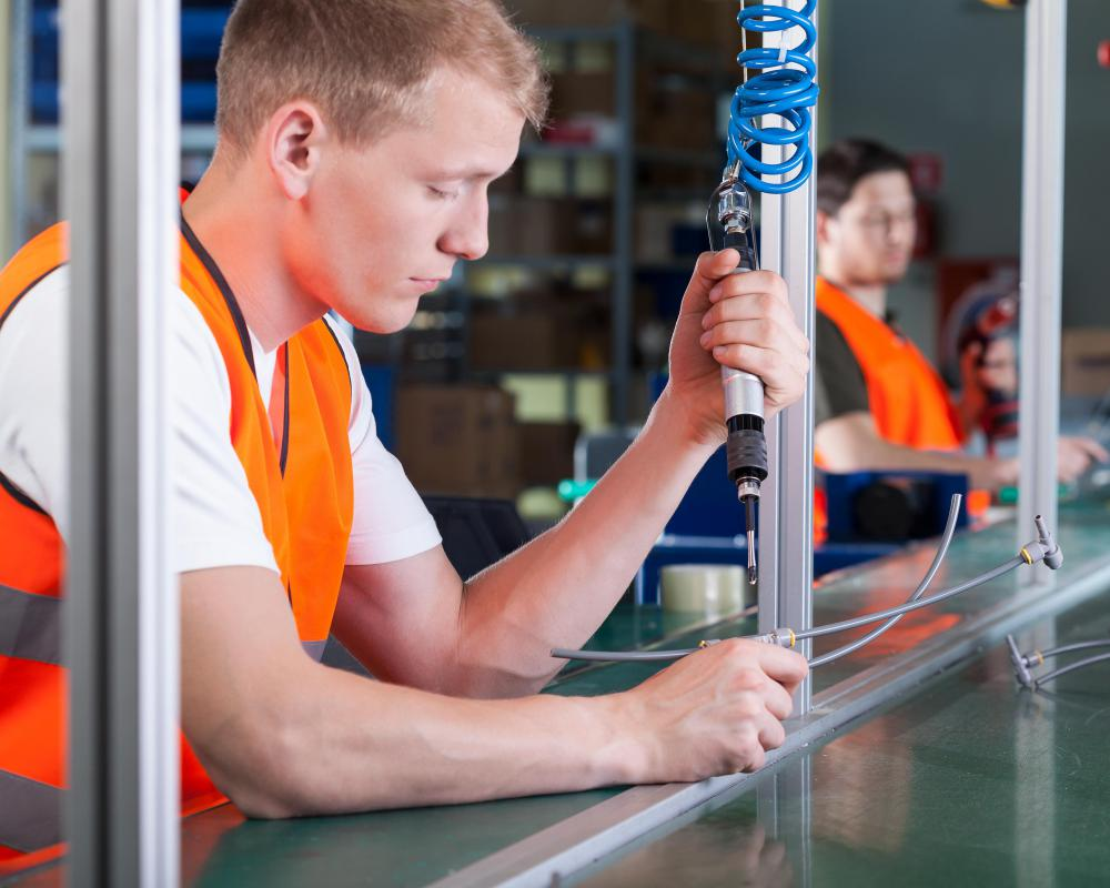 Each worker along an assembly line has specific tasks he must complete in a limited amount of time.