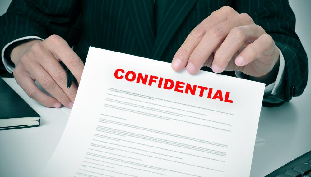 Any information shared with a legal representatives is meant to be confidential.