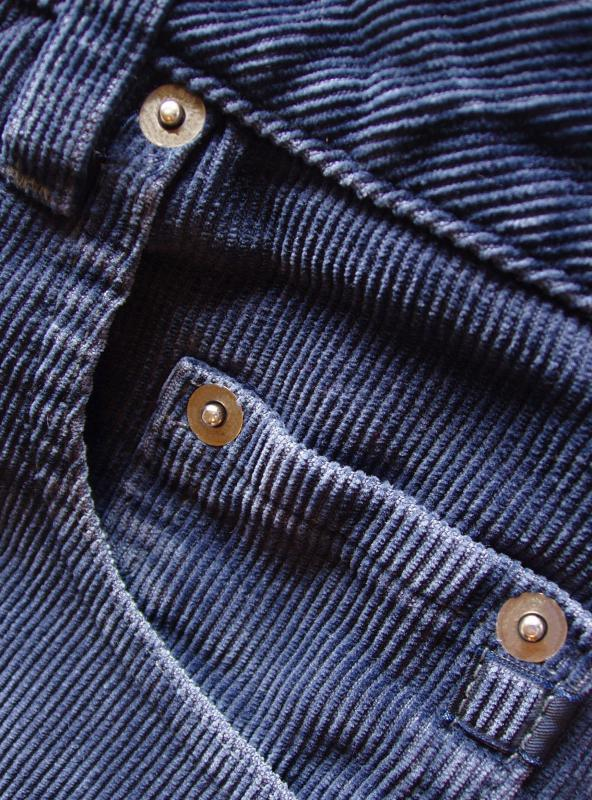 Corduroy is often used for making trousers.
