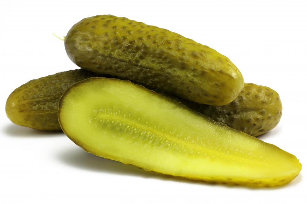 Pickled cucumbers may be consumed in an eating contest.