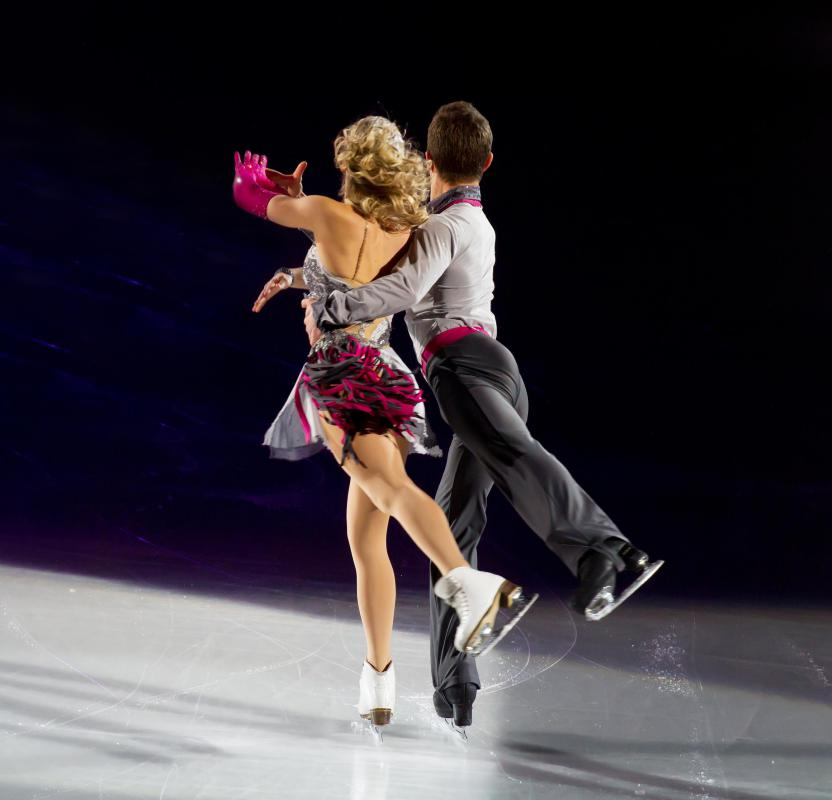 Figure skaters typically wear leotards.