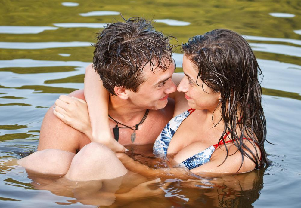 Sperm usually won't survive cold water, but protection should still be used for sexual activity that takes place in water.