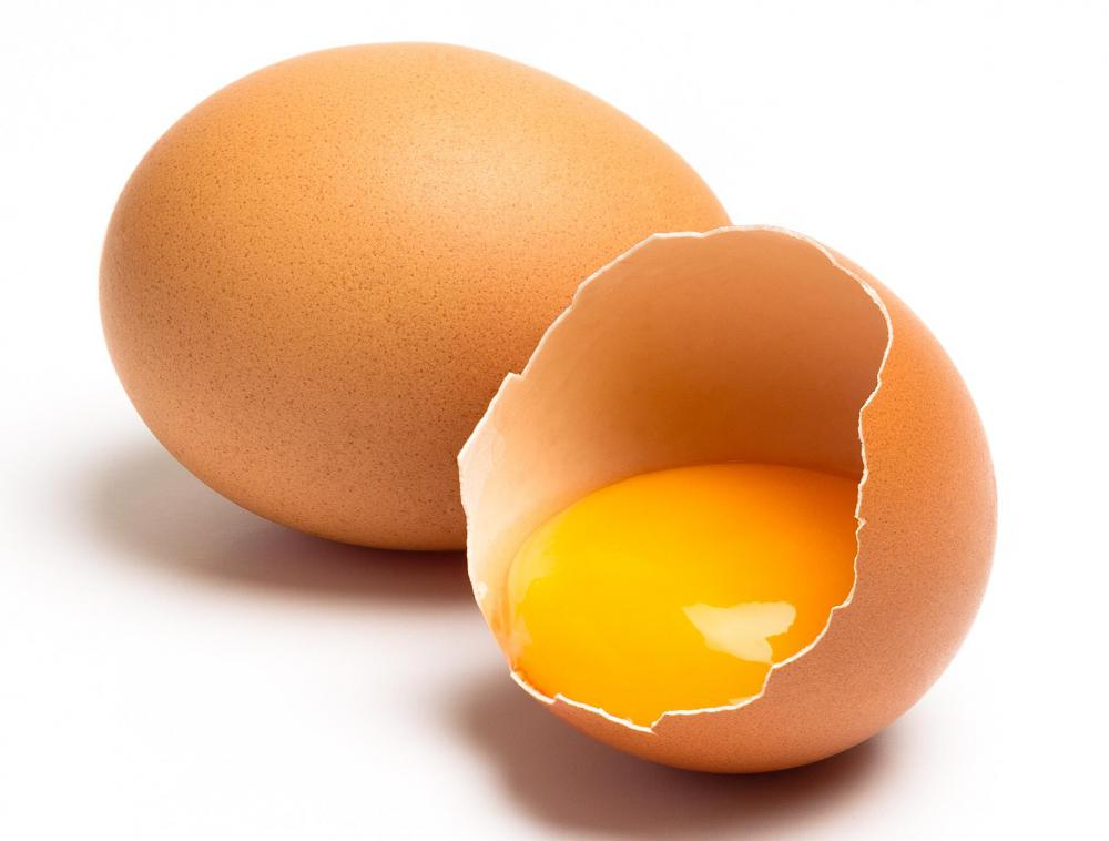 Egg yolks contain Vitamin H, which helps maintain healthy hair.