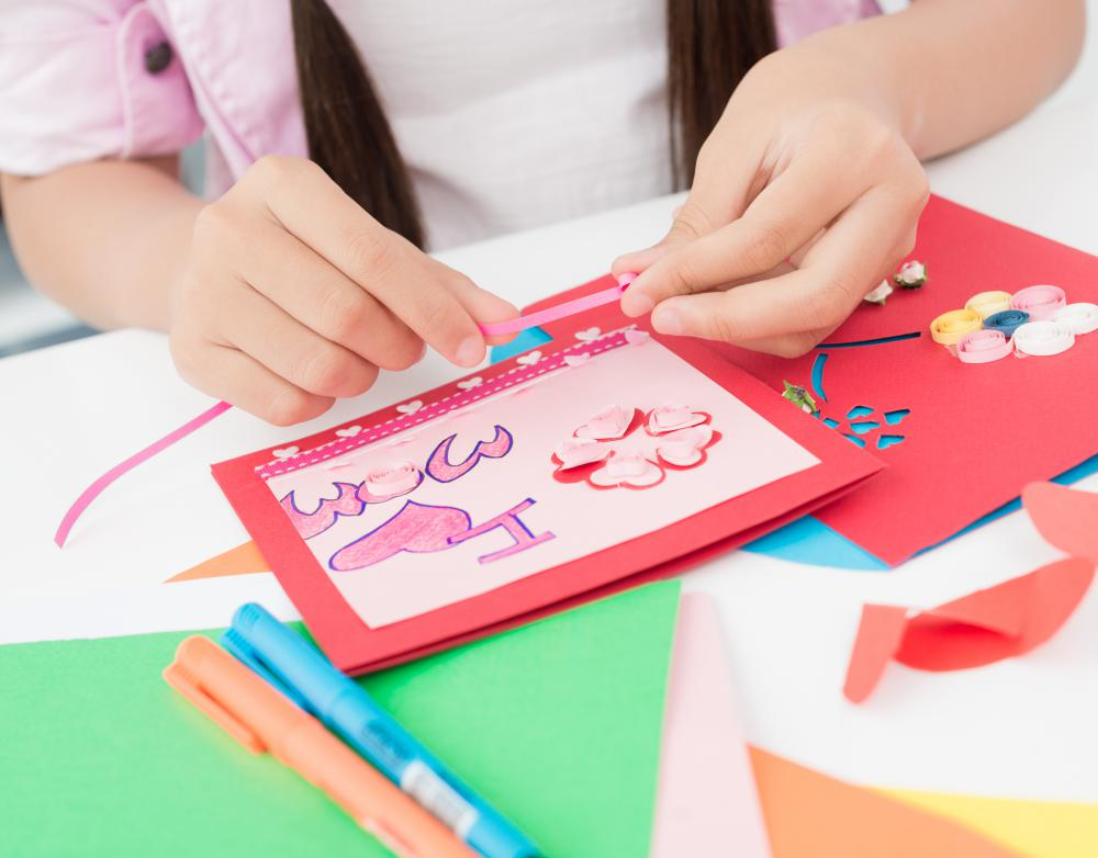 In contemporary times, children make and exchange Valentine's cards with other people as part of the holiday's festivities.