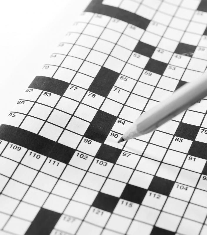 People with a love of words often entertain themselves with crossword puzzles.