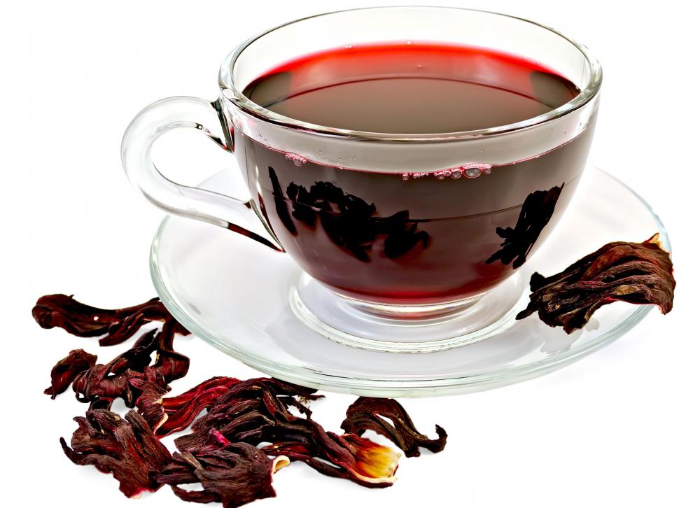 Hibiscus leaves can be made into tea.