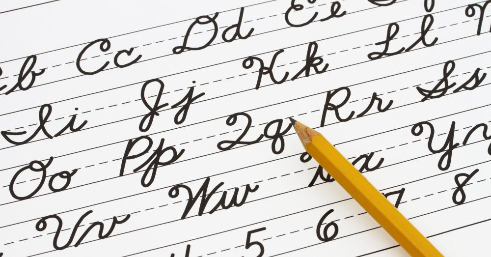 The Palmer Method is a system of writing commonly used to write in cursive.