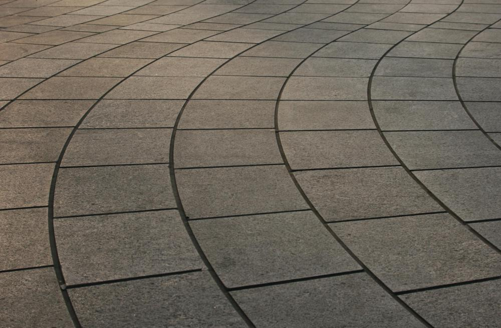 Paving slabs are often used to create outdoor patios.